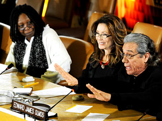 "So say we all: BSG rocks the UN....""The UN is more than a building with fantastic curtains"" - Whoopi Goldberg."